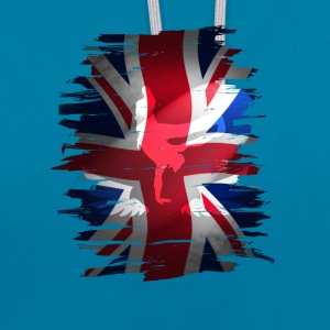 Union Jack britain flag Stunt England destroyed ro - Kontrast-Hoodie