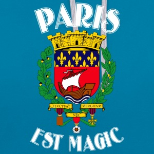 Paris Is Magic Blue - Contrast hoodie
