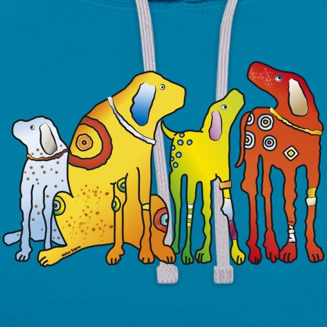 Hunde Meute Pinscher beste Freunde treues Haustier