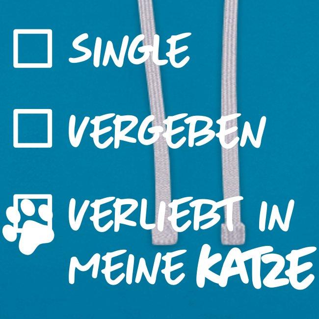 Vorschau: single verliebt katze - Kontrast-Hoodie