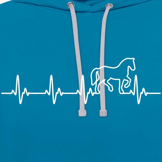 Vorschau: Horse Heartbeat - Kontrast-Hoodie