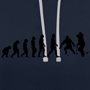 l'évolution du hockey - Sweat-shirt contraste