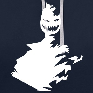 T-shirt monster (white / white) - Contrast Colour Hoodie