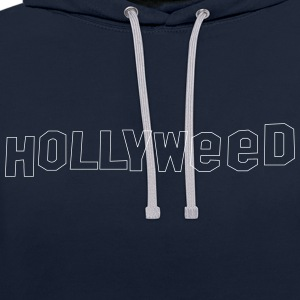 Hollyweed shirt - Kontrast-hettegenser
