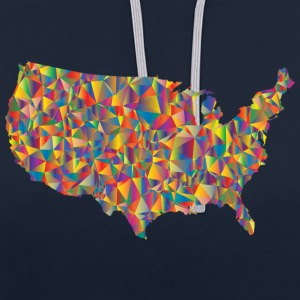COLORFULL AMERICA - Contrast Colour Hoodie