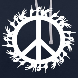 ++ ++ Love & Peace - Sweat-shirt contraste