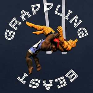 Grappling Beast (ape vs jaguar) - Contrast Colour Hoodie