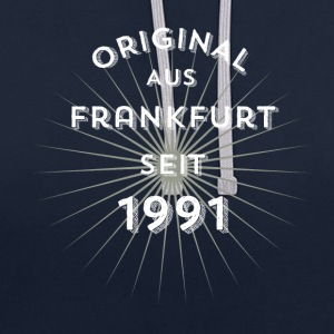 Original from Frankfurt since 1991 - Contrast Colour Hoodie