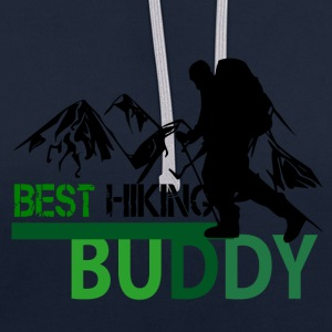 Best Hiking Buddy - Love to hike - Contrast Colour Hoodie