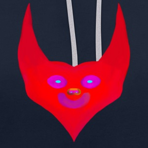 heart horns devil satan abstract - Contrast Colour Hoodie
