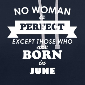 Perfect woman June - Kontrast-Hoodie