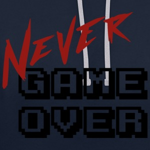 Big_Never_game_Over - Contrast Colour Hoodie