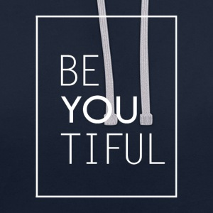 beYOUtiful (beautiful) - Contrast Colour Hoodie