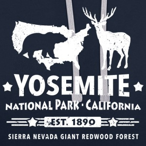 Yosemite National Park Californien Bjørn Redwood - Kontrast-hættetrøje