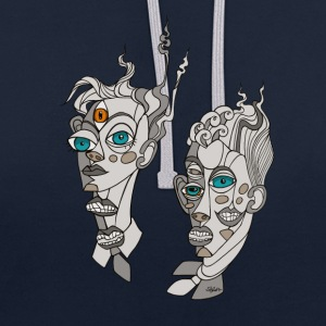CubistTwins - Sweat-shirt contraste
