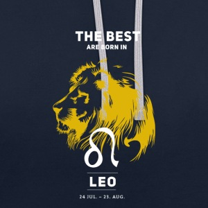 Leo zodiac horoscope signs July Gold Birthday - Contrast Colour Hoodie