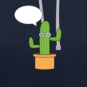 The cactus. - Contrast Colour Hoodie