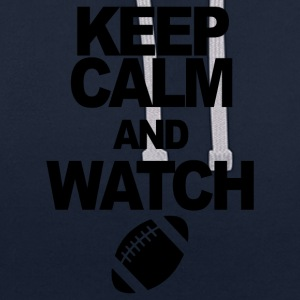 KEEP CALM AND WATCH FOOTBALL - Contrast Colour Hoodie
