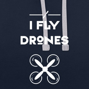 drone fly Quadrocopter pilote hélice de vol d'air - Sweat-shirt contraste