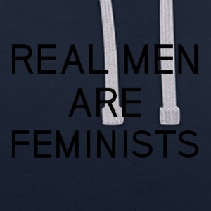 real_men_are_feminists - Contrast Colour Hoodie