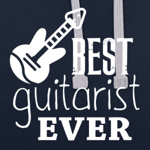 The best GUITARIST - Contrast Colour Hoodie