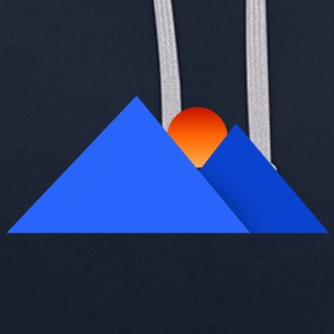 mountains - Contrast Colour Hoodie