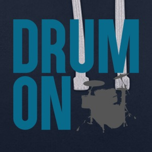 Drum ON - Contrast Colour Hoodie