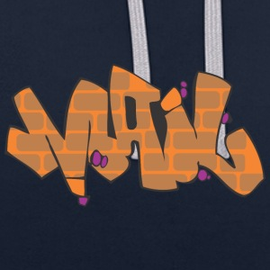 mail graffiti - Contrast Colour Hoodie