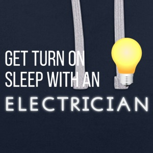 Electricians: Get turn on sleep with at Electrician - Contrast Colour Hoodie