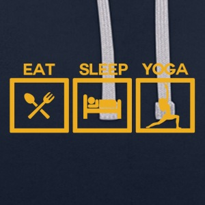 ! Eat Sleep Yoga - Cycle! - Contrast Colour Hoodie