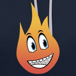 sourire flamme - Sweat-shirt contraste