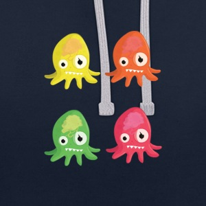 Octopus cerveau - Sweat-shirt contraste