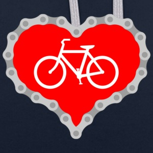 Love Biking - Contrast Colour Hoodie