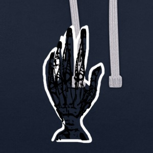 Robotic hand t-shirt - Contrast Colour Hoodie