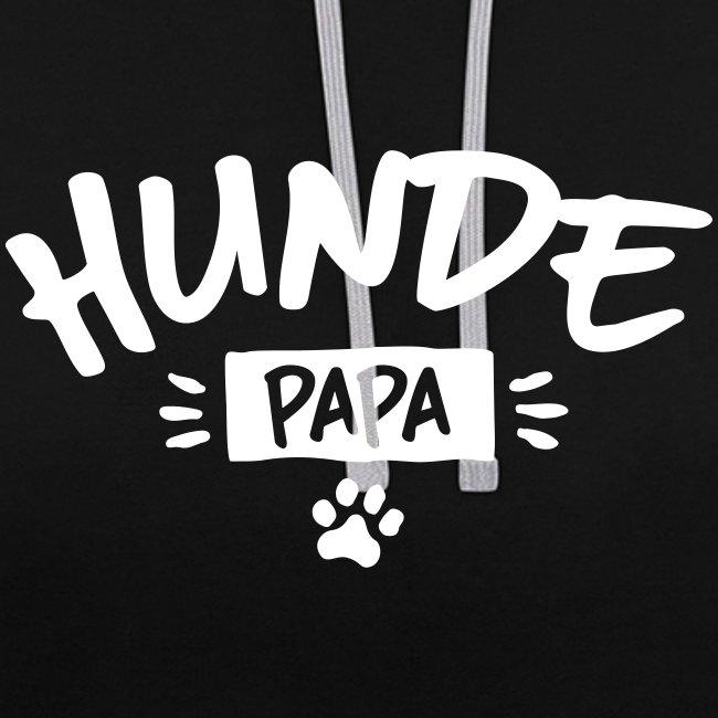 Vorschau: Hunde Papa - Kontrast-Hoodie