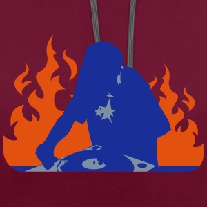 deejay - Contrast Colour Hoodie