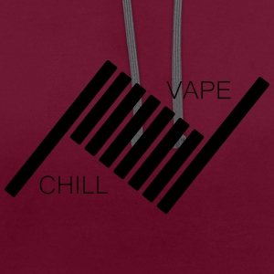 Vape and Chill - Contrast Colour Hoodie