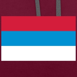 National Flag Of Serbia - Kontrast-hættetrøje