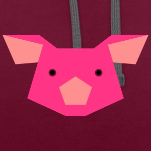 porc - Sweat-shirt contraste