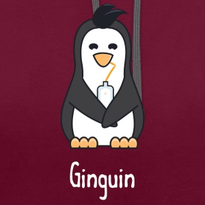 Ginguin - A penguin who really loves gin - Contrast hoodie
