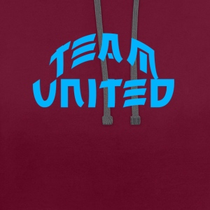 Team United - Contrast Colour Hoodie