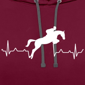 Heartbreak of a rider - Contrast Colour Hoodie