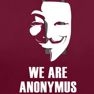 Anonymus nous sommes masque démonstration revolutio blanc - Sweat-shirt contraste