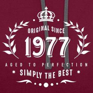 original since 1977 simply the best 40th birthday - Contrast Colour Hoodie