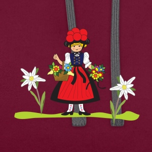 Alpine cherry girl - Contrast Colour Hoodie