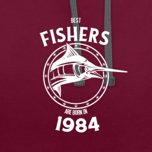 Present for fishers born in 1984 - Contrast Colour Hoodie