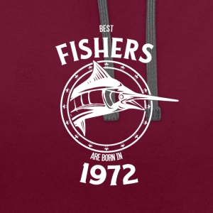 Present for fishers born in 1972 - Contrast Colour Hoodie