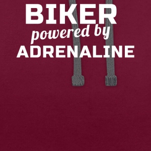 Biker Powered By Adrenaline - Contrast hoodie
