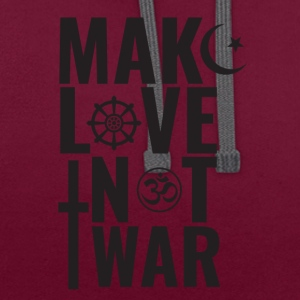 Make Love Not War - Kontrast-hettegenser