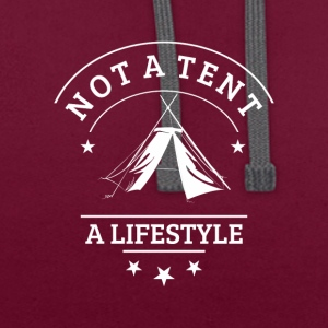 not_a_tent_wei-- - Sweat-shirt contraste